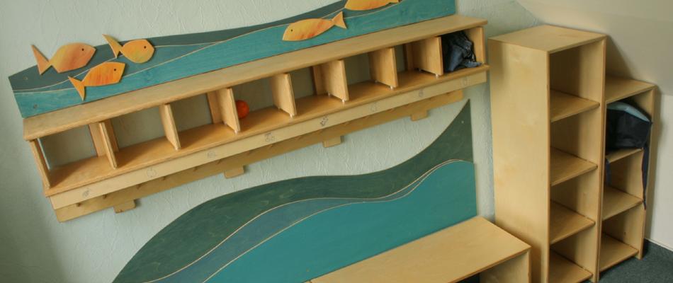 Fisch garderobe grasreiner design for Garderobe kindergarten